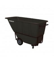 Wesco 1S1250B 1250 lb Load Poly Tilt Cart Dump Truck, Black