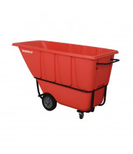 Wesco 1S1250R 1250 lb Load Poly Tilt Cart Dump Truck, Red
