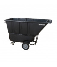 Wesco 1FL1250B 1250 lb Load Fork Liftable Poly Tilt Cart, Black