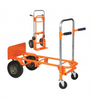 "Wesco 2-4-1-CON 700/800 lb Load 20"" W Nose Convertible Hand Truck"