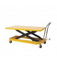 """Wesco LDT-3263 Long Deck Scissors Lift Table 1100 lb Load 63"""" x 32"""""""