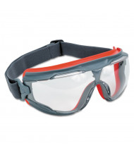 3M GoggleGear 500Series AntiFog Safety Goggles, Red/Black Frame, Clear Lens,10 Pack