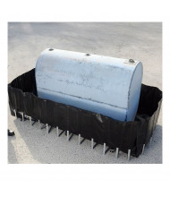 """Ultratech Flexible Containment Sumps with 3/4"""" Drain (400 gallon model shown)"""