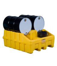 Just-Rite 28666 Drum Management Base Module with Dispensing Well and Fork Channels, Yellow