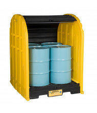 Just-Rite EcoPolyBlend 79 Gallon 4-Drum DrumShed Safety Storage Unit (Drums Not Included)