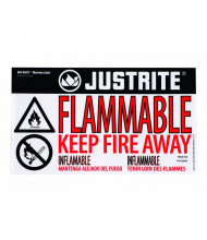 Just-Rite Haz-Alert 29004 Flammable Small Warning Label for Safety Cabinet