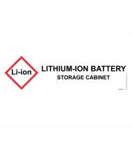 Just-Rite 29018 Lithium Label for Hazardous Material Cabinets