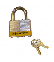 "Justrite 29933 Padlock Master Lock No. 5 with 3/8"" Shackle for Lockable Storage Cabinet"