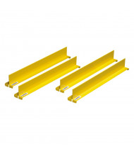 "Justrite 29990 Shelf Dividers for 18"" Shelf, Set of 4, Yellow"