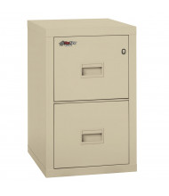 """FireKing Turtle 2-Drawer 22"""" Deep 1-Hour Rated Fireproof File Cabinet, Letter & Legal (Shown in Parchment)"""