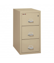 """FireKing 3-Drawer 31"""" Deep 1-Hour Rated Fireproof File Cabinet, Letter - Shown in Parchment"""