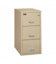 """FireKing 3-Drawer 31"""" Deep 2-Hour Rated Fireproof File Cabinet, Letter - Shown in Parchment"""