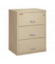 """FireKing 3-Drawer 31"""" Wide 1-Hour Rated Lateral Fireproof File Cabinet - Shown in Parchment"""