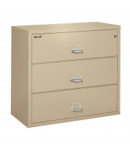 """FireKing 3-Drawer 44"""" Wide 1-Hour Rated Lateral Fireproof File Cabinet - Shown in Parchment"""