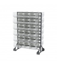 Akro-Mils Double-Sided Rail Rack with Clear AkroBins (48 Bins)