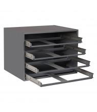 Durham Steel Large Compartment Box Slide Racks (40 lbs. cradle capacity shown)