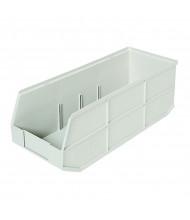 Akro-Mils 1800 Series AkroBin Plastic Storage Bins in Beige, 6 Pack