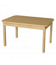"Wood Designs 44"" W x 30"" D High Pressure Laminate Elementary School Tables"