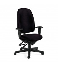 Global Granada 3217 Fabric Multi-Tilter High-Back Office Chair. Shown in Black.