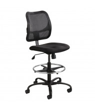 Safco Vue 3395 Mesh-Back Fabric Drafting Chair, Footring