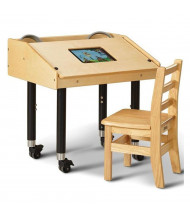 "Jonti-Craft 27"" W x 21"" D Single Tablet Mobile Table"