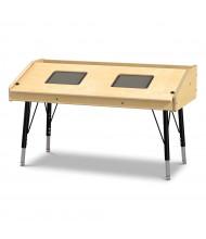 """Jonti-Craft 42"""" W x 21"""" D Dual Tablet Table"""