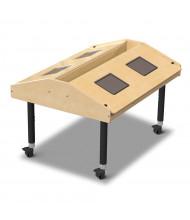 "Jonti-Craft 42"" W x 33"" D Quad Tablet Mobile Table"