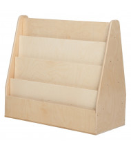 """Wood Designs Classroom Double Sided Book Display, Birch, 29"""" H x 30"""" W x 15.5"""" D"""