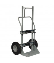 "Justrite 1000 lb Cryogenic Single Cylinder Hand Truck, 10"" Flat-Free Wheels"