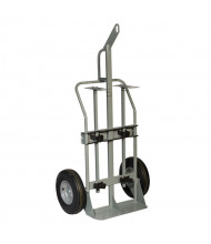 "Justrite 600 lb Hoist Ring Double Cylinder Hand Trucks (Shown with 16"" Pneumatic Wheels)"