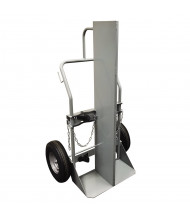 "Justrite 600 to 1000 lb Firewall Double Cylinder Hand Trucks (Shown with 16"" Pneumatic Wheels)"