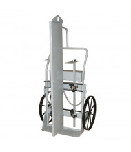 "Justrite 600 lb Firewall & Tool Box Double Cylinder Hand Trucks (Shown with 20"" Steel Wheels)"
