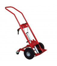 "Justrite 1000 lb Lift-And-Load Single Cylinder Hand Truck, 10.5"" Pneumatic & Rear Casters"