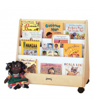 Jonti-Craft Double Sided Pick-a-Book Mobile Display Stand (example of use)