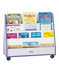 Jonti-Craft Rainbow Accents Pick-a-Book Mobile Display Stand (in purple, front)
