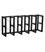 Justrite 5-Wide Cylinder Barricade Storage Racks (Shown with 5 cylinder capacity)