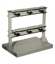 Justrite 6-Cylinder Pallet Forklift Attachment 1800 lb Load