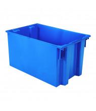 Akro-Mils Nest & Stack Tote Plastic Storage Bins (Shown in Blue)