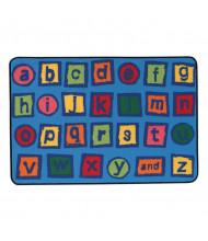 Carpets for Kids Alphabet Blocks Rectangle Classroom Rug