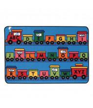Carpets for Kids Alphabet Train Rectangle Classroom Rug