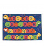 Carpets for Kids Caterpillar Friends Rectangle Classroom Rug, Blue