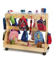 Jonti-Craft Mobile Backpack Cubbie Cart, Clear Cubbie Trays