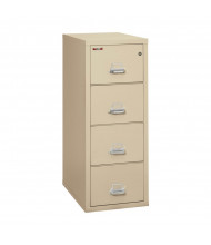 """FireKing 4-Drawer 31"""" Deep 1-Hour Rated Fireproof File Cabinet, Letter - Shown in Parchment"""