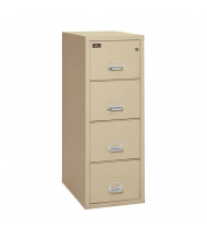"""FireKing 4-Drawer 31"""" Deep 2-Hour Rated Fireproof File Cabinet, Letter - Shown in Parchment"""