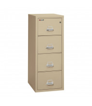"""FireKing 4-Drawer 25"""" Deep 1-Hour Rated Fireproof File Cabinet, Legal - Shown in Parchment"""