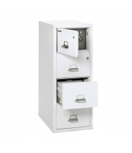 """FireKing Safe-In-A-File 4-Drawer 31"""" Deep 1-Hour Rated Fireproof File Cabinet, Legal (Shown in Arctic White)"""