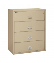 """FireKing 4-Drawer 44"""" Wide 1-Hour Rated Lateral Fireproof File Cabinet - Shown in Parchment"""