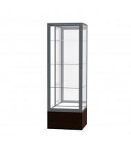 """Waddell Keepsake 4024 Series Floor Display Case 24""""W x 72""""H x 24""""D (Shown in Walnut/Mirror/Satin Natural)"""