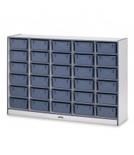 Jonti-Craft Rainbow Accents 30 Tub Mobile Cubbie Classroom Storage (Shown in Navy. Tubs Sold Separately)