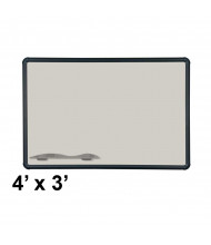 Best-Rite 404PC-T1-52 Evolution Projection Surface 4 ft. x 3 ft. Matte Gray Black Presidential Trim Whiteboard